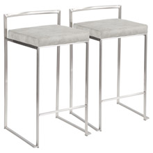 LumiSource B26-FUJI LGY2 Fuji Counter Stools (Set of 2)