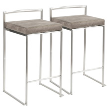 LumiSource B26-FUJI STN2 Fuji Counter Stools (Set of 2)