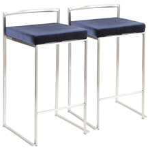 LumiSource B26-FUJI VBU2 Fuji Counter Stools (Set of 2)