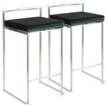 LumiSource B26-FUJI VGN2 Fuji Counter Stools (Set of 2)