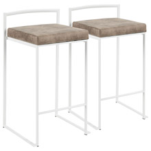 LumiSource B26-FUJI W+FBN2 Fuji Counter Stools (Set of 2)