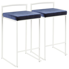 LumiSource B26-FUJI W+VBU2 Fuji Counter Stools (Set of 2)