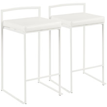 LumiSource B26-FUJI W+W2 Fuji Counter Stools (Set of 2)