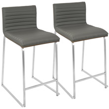 LumiSource B26-MARA WL+GY2 Mara Counter Stools (Set of 2)