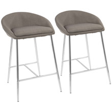 LumiSource B26-MATSE GY2 Matisse Counter Stools (Set of 2)