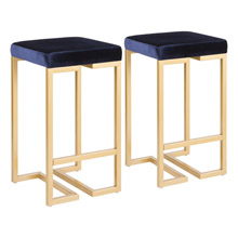 LumiSource B26-MDAS AU+BU2 Midas Counter Stools (Set of 2)