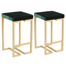 LumiSource B26-MDAS AU+GN2 Midas Counter Stools (Set of 2)