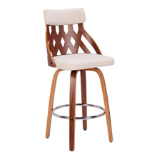 LumiSource B26-YRK WL+CR York Counter Stool