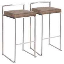 LumiSource B30-FUJI FBN2 Fuji Barstools (Set of 2)