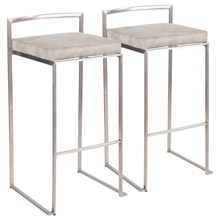LumiSource B30-FUJI LGY2 Fuji Barstools (Set of 2)