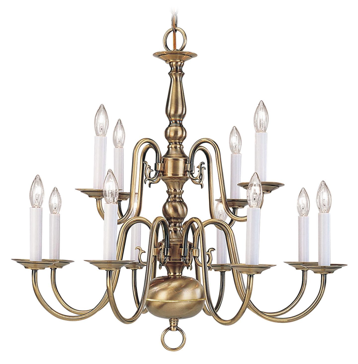 Livex Lighting 5012 01 Williamsburg Twelve Light Chandelier
