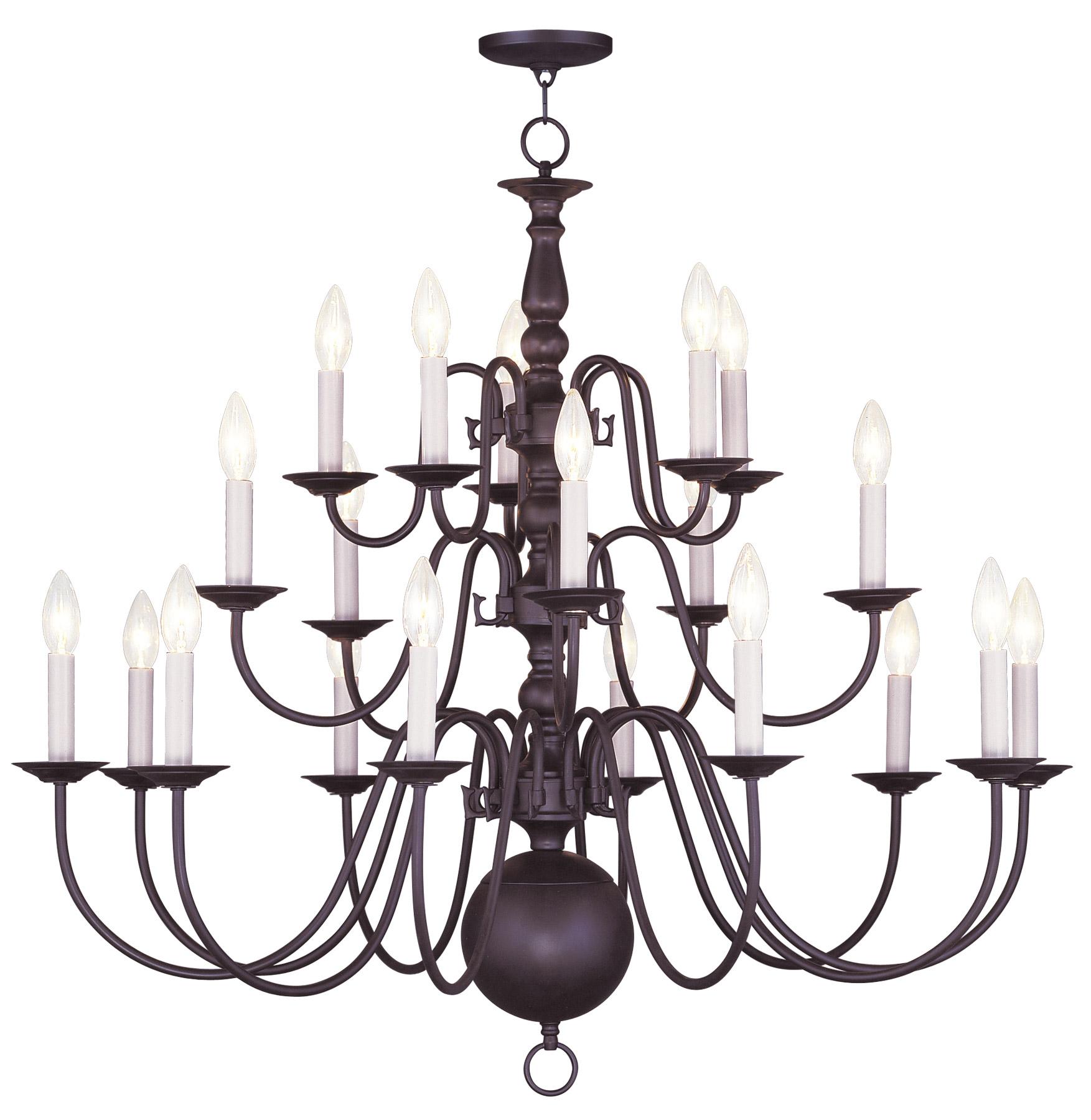 Livex lighting 5019 07 williamsburg twenty light chandelier aloadofball Image collections