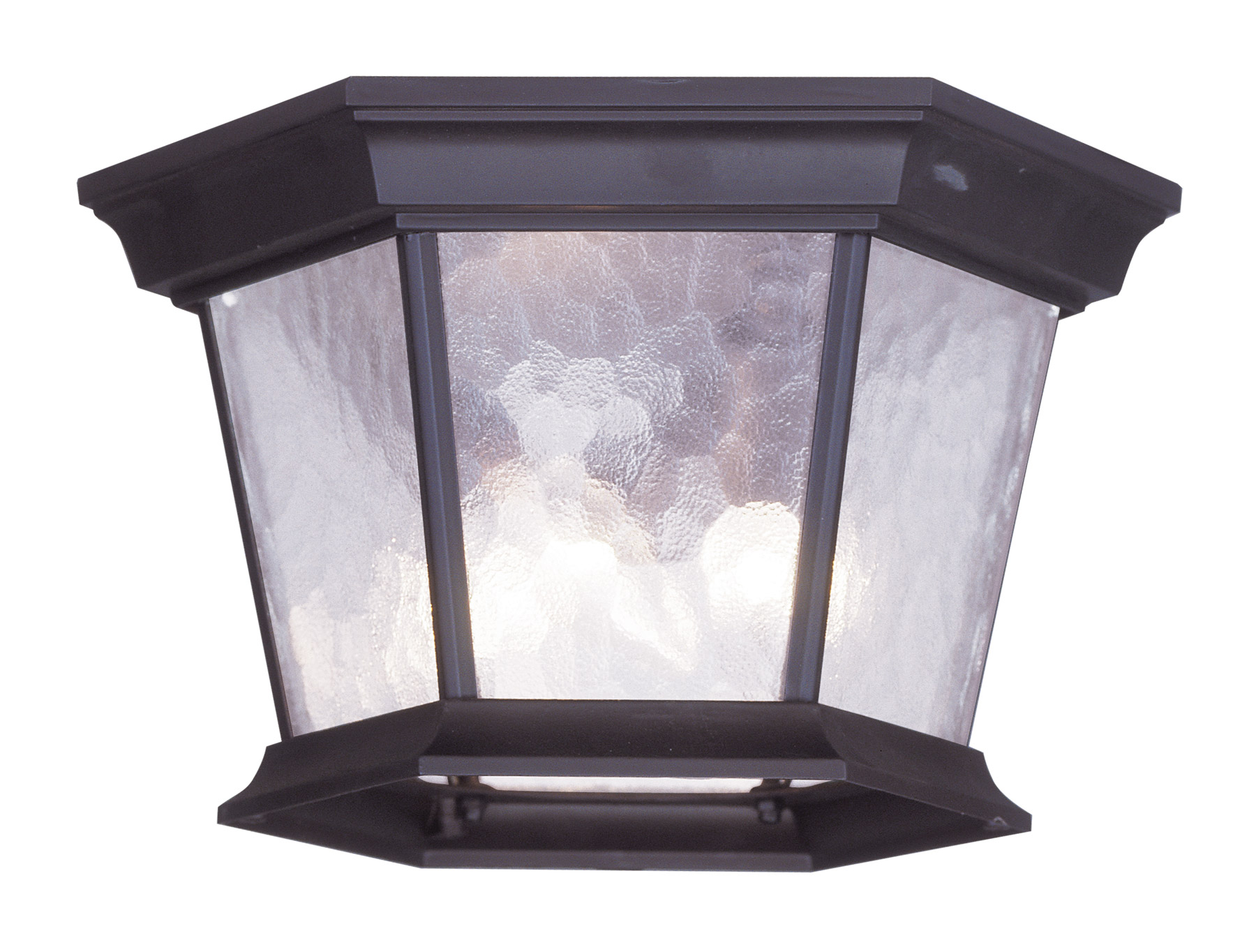 Livex Lighting 7510 07 Hamilton Outdoor Flush Mount Ceiling Fixture