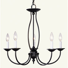 Livex Lighting 4155-07 Home Basics Five Light Chandelier
