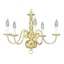 Livex Lighting 5005-02 Williamsburg Five Light Chandelier