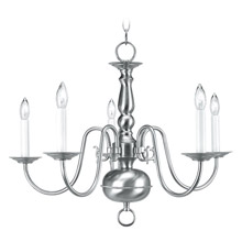 Livex Lighting 5005-91 Williamsburg Five Light Chandelier