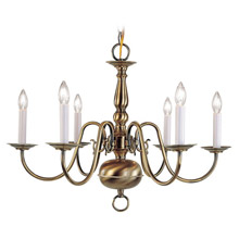 Livex Lighting 5006-01 Williamsburg Six Light Chandelier