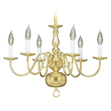Livex Lighting 5006-02 Williamsburg Six Light Chandelier