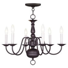 Livex Lighting 5006-07 Williamsburg Six Light Chandelier