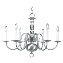 Livex Lighting 5006-91 Williamsburg Six Light Chandelier