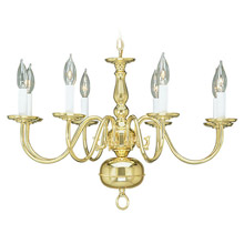 Livex Lighting 5008-02 Williamsburg Eight Light Chandelier