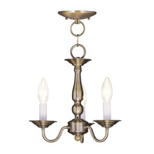 Livex Lighting 5009-01 Williamsburg Convertible Mini Chandelier