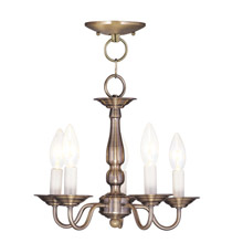 Livex Lighting 5011-01 Williamsburg Convertible Five Light Mini Chandelier