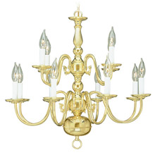 Livex Lighting 5012-02 Williamsburg Twelve Light Chandelier