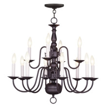 Livex Lighting 5012-07 Williamsburg Twelve Light Chandelier