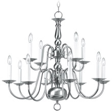Livex Lighting 5012-91 Williamsburg Twelve Light Chandelier