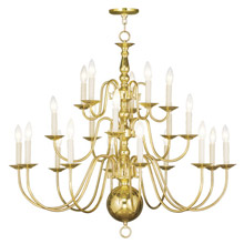 Livex Lighting 5019-02 Williamsburg Twenty Light Chandelier