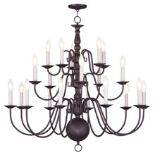 Livex Lighting 5019-07 Williamsburg Twenty Light Chandelier