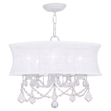 Livex Lighting 6305-03 Crystal Newcastle Five Light Chandelier