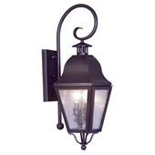 Traditional Amwell Outdoor Wall Lantern - Livex Lighting 2551-07