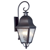 Traditional Amwell Outdoor Wall Lantern - Livex Lighting 2555-07