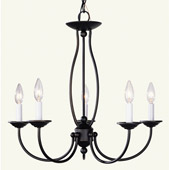 Traditional Home Basics Five Light Chandelier - Livex Lighting 4155-07
