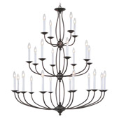 Traditional Home Basics Twenty-Four Light Chandelier - Livex Lighting 4180-07