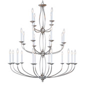 Transitional Home Basics Twenty-Four Light Chandelier - Livex Lighting 4180-91