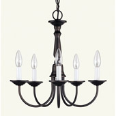 Traditional Home Basics Chandelier - Livex Lighting 6030-07