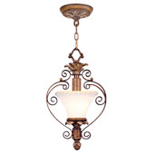 Traditional Savannah Convertible Inverted Pendant - Livex Lighting 8421-57
