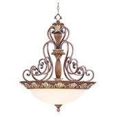 Traditional Savannah Inverted Pendant - Livex Lighting 8427-57