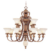 Traditional Savannah Twelve Light Chandelier - Livex Lighting 8428-57