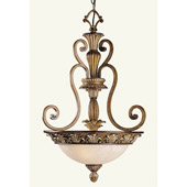 Traditional Savannah Inverted Pendant - Livex Lighting 8454-57