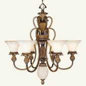 Traditional Savannah Chandelier - Livex Lighting 8456-57