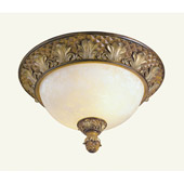 Traditional Savannah Flush Mount Ceiling Fixture - Livex Lighting 8457-57