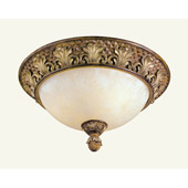 Traditional Savannah Flush Mount Ceiling Fixture - Livex Lighting 8458-57