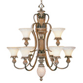 Traditional Savannah Chandelier - Livex Lighting 8459-57