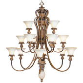 Traditional Savannah Chandelier - Livex Lighting 8469-57