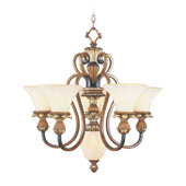 Traditional Savannah Six Light Chandelier - Livex Lighting 8485-57