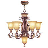Traditional Villa Verona Six Light Chandelier - Livex Lighting 8555-63